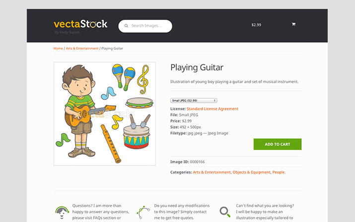 Vectastock.com screen